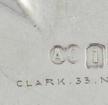 Alfred Clark Silver Makers Mark