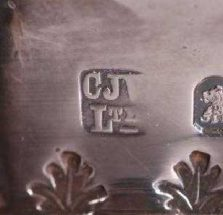 C J Vander Ltd Silver Makers Mark circa 1937