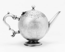 An early George II Scottish teapot by Patrick Murray, Edinburgh 1727