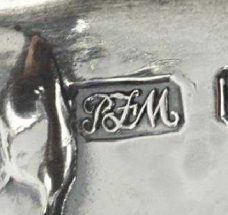 Robert Fead Mosely silver makers mark circa 1907