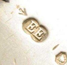 Elizabeth Eaton silver makers mark circa 1850