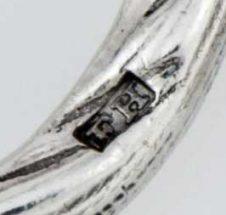 Francis Higgins silver makers mark