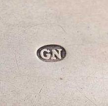 George Nangle Dublin silver makers mark