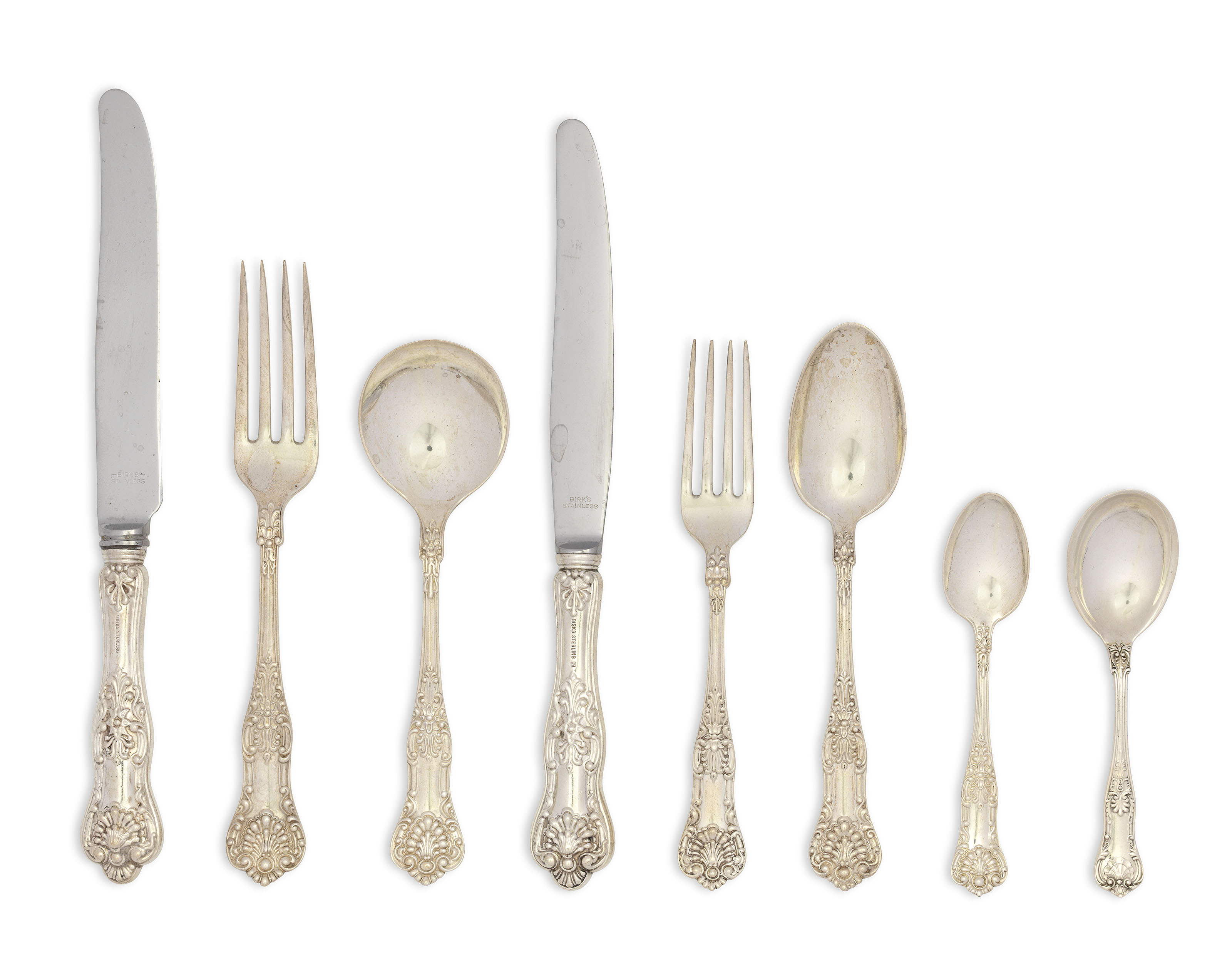 Gorham Sovereign Old Sterling Silver Salad Fork No Monograms s - 6 1//2 Inches