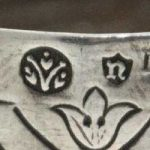 Neresheimer of Hanau German Silver Makers Mark n in a shield.