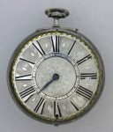 SILVER AND TORTOISE-SHELL PAIR-CASED VERGE WATCH