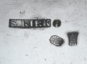 S Kirk Silver Makers Mark with two assay office marks circa 1830