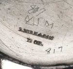S Kirk & Sons Silver Makers Mark found on coin silver, circa mid 19th century