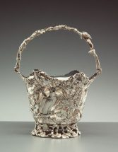Sterling silver basket Made by Walsh & Sons in Melbourne, Victoria, Australia, 1859-1865.
