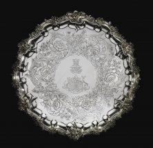 Royal. A Victorian silver presentation salver, Paul Storr for Storr & Mortimer, London, 1838