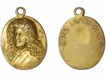 Oval silver gilt medal.(obverse) Bust of Thomas Betterton