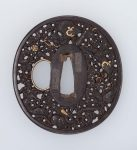 Tsuba with design of dragons and pearls