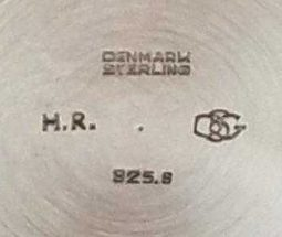 Holger Rasmussen Danish Silver Makers Mark