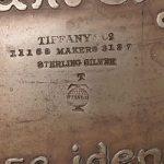 Tiffany and Co silver makers mark circal 1893